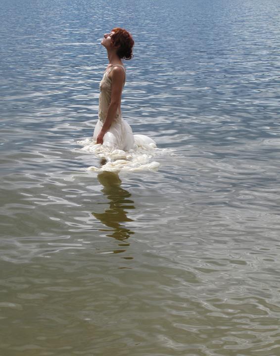 Abbie R Powers performance photography silk dress