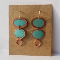 copper and resin jewelry