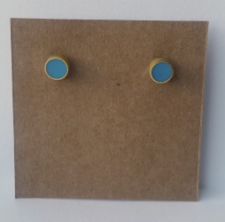 brass stud earrings with resin
