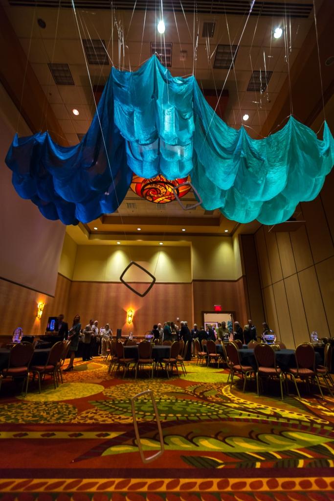 abbie r powers suspended silk installation art