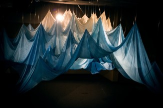 Abbie R Powers silk installation art
