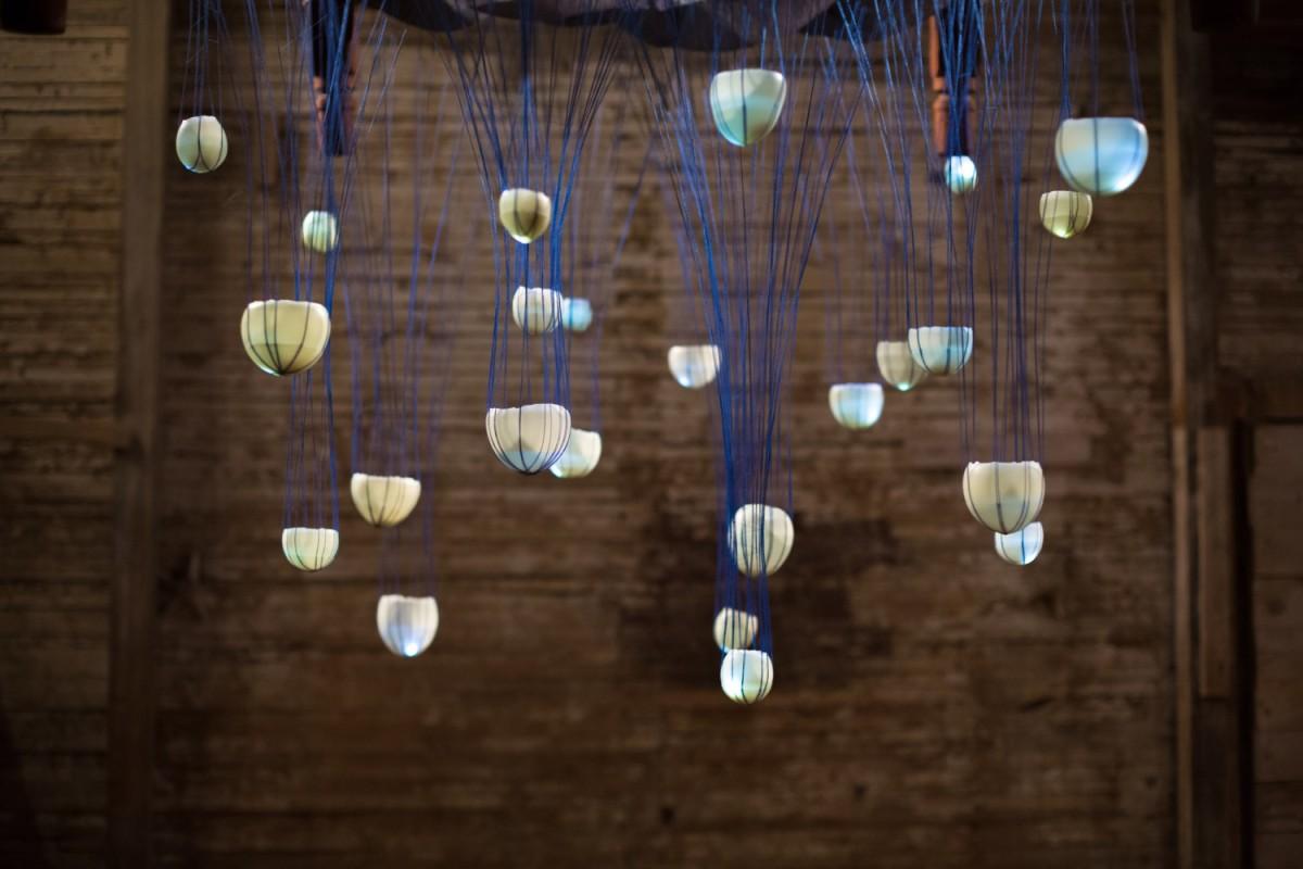 Abbie R Powers silk installation art