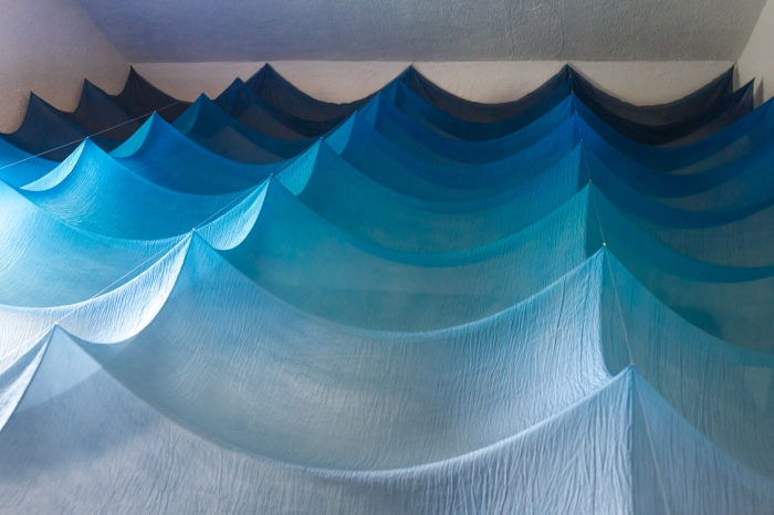 Abbie R Powers silk installation ar