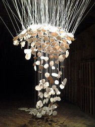 abbie r powers suspended ceramic installation art