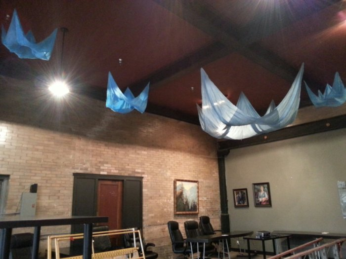installation art, suspended art, suspended silk, The Armory