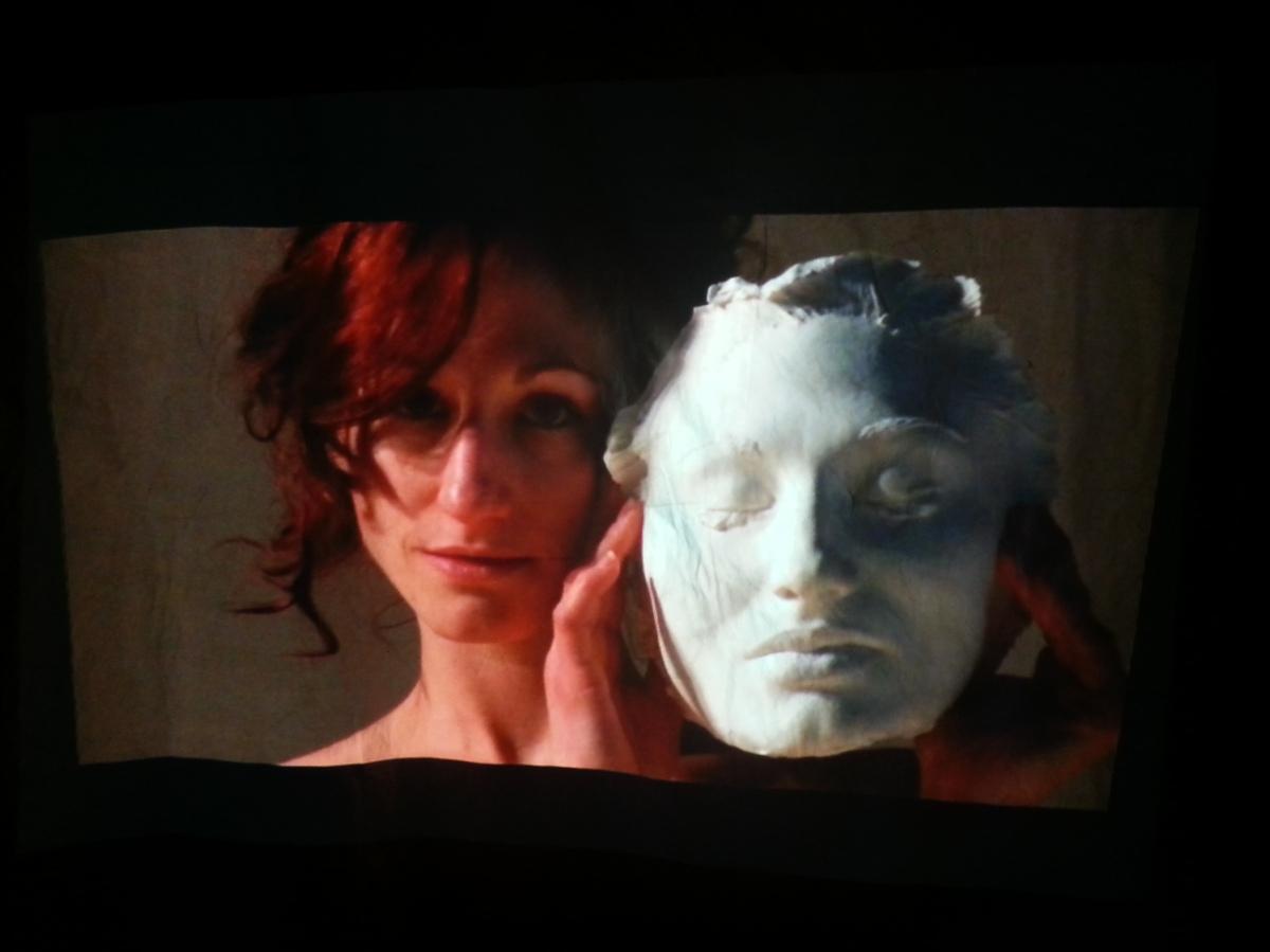 Abbie Powers figurative art, digital projection, contemporary performance art