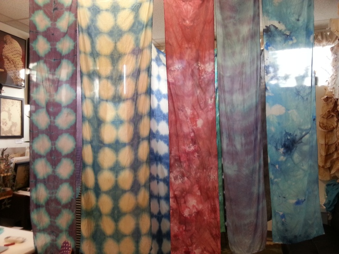 hand dyed silk scarves by abbie r powers
