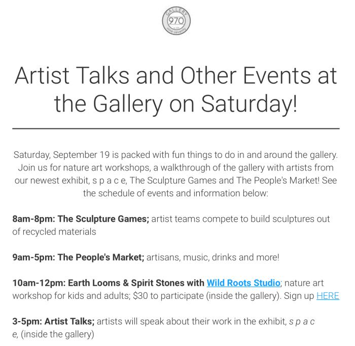 Gallery 970 Artist Talk Info