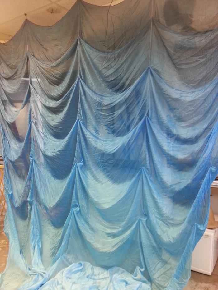 suspended silk installation art abbie r powers