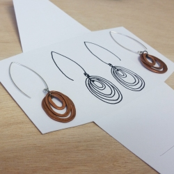 sun+dog hand hammered copper earrings abbie powers