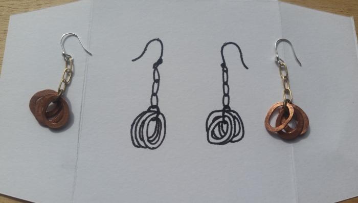 sun+dog copper earrings